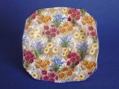 Early Grimwades Royal Winton 'Marguerite' Chintz Tea Plate c1930